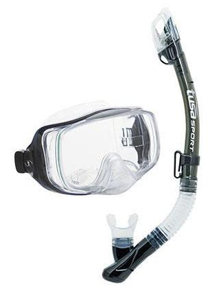 Tusa Imprex 3D Dry Mask & Snorkel Set Smoke