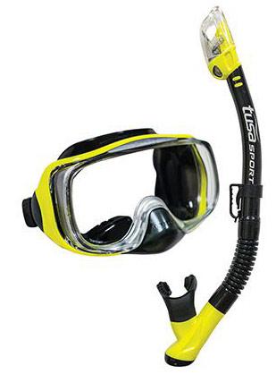 Tusa Imprex 3D Dry Mask & Snorkel Yellow