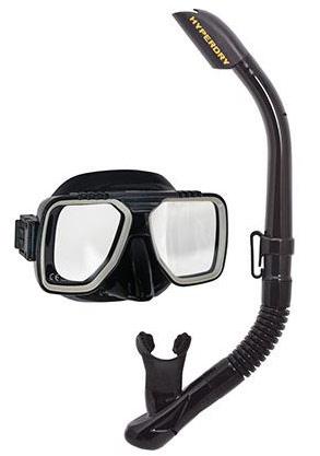 Tusa Liberator Mask & Snorkel Black