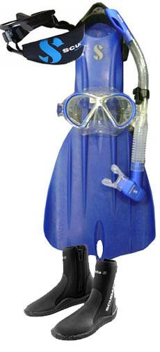 Scubapro Nova Blue Fin Package