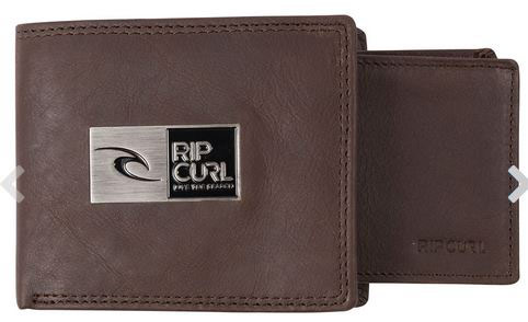 Rip Curl Stackawatu Leather Wallet Brown
