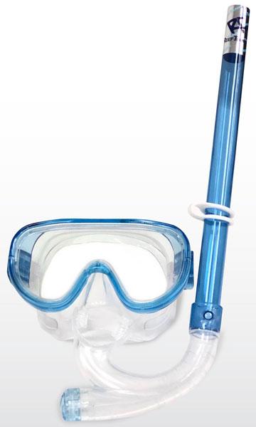 Tusa Sport Capri II Mask & Snorkel Set Blue