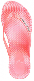 Rusty Flipin Thongs Metallic- Pink