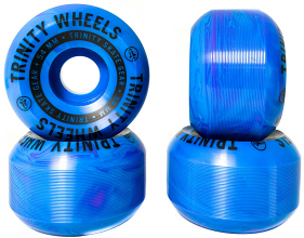 Trinity Blue Swirl Wheels 54mm