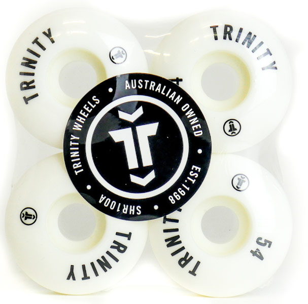 Trinity White Wheels 54mm