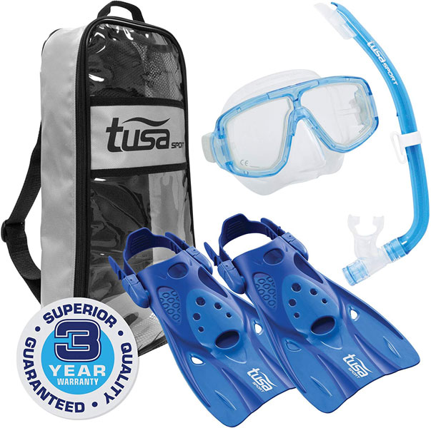 Tusa Sport Platina Travel Fin Set
