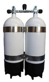 Faber Twin Steel Cylinders 170cft 10.5 ltr