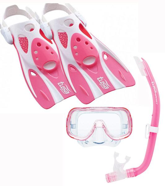 Tusa Mini Kleio Hyperdry & UF0103 Fins Kids set Pink