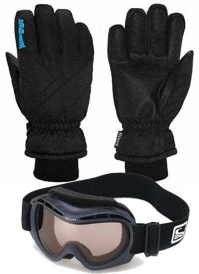 Kids Gloves & Scott Goggles