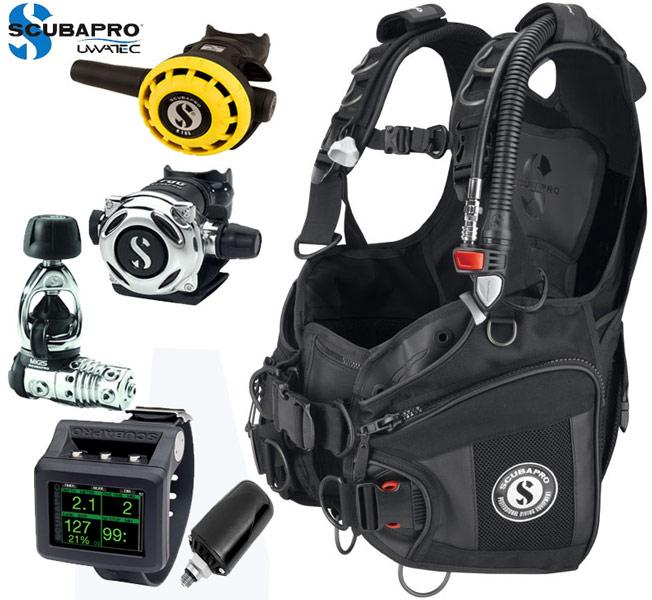 Scubapro X-Black BCD/G2 Package