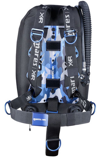 Mares XR Single Backmount Blue Battle