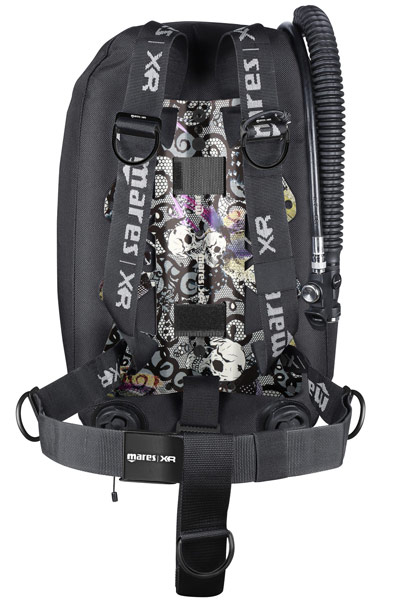 Mares XR Single Backmount Psycho Calavera