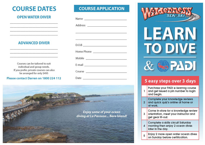 Learn to Scuba Dive Course application