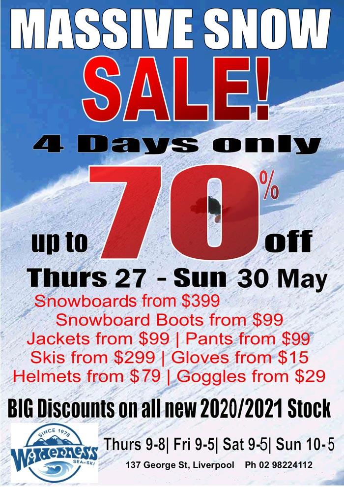 Snow Ski Snowboard sale