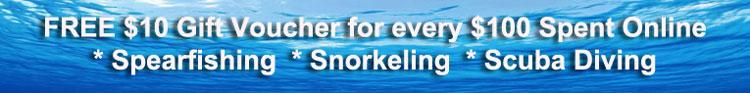 Free Gift voucher Snorkel Spearfish Scuba
